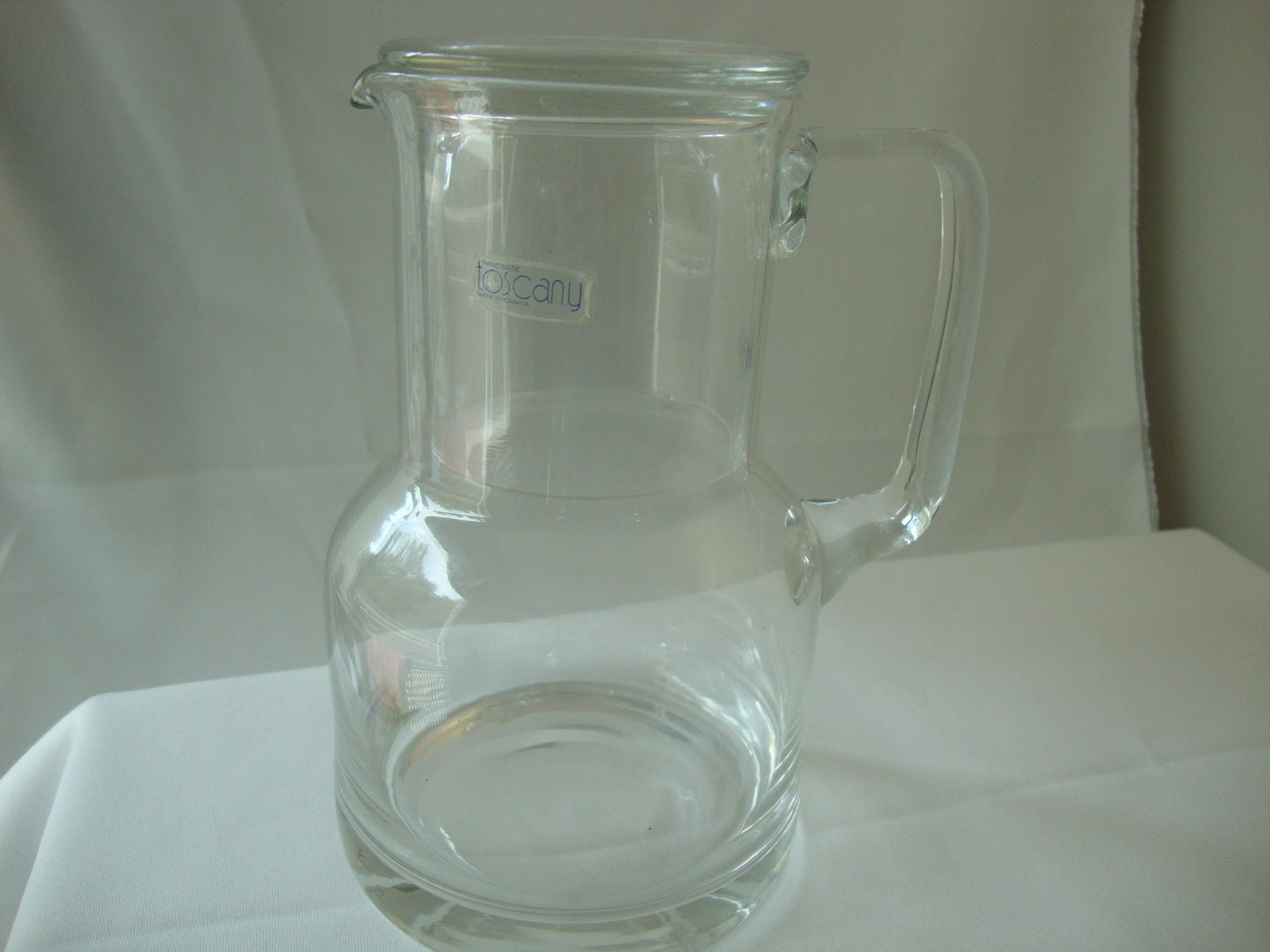 Bedside Water Carafe And Glass Crystal Bedside Water Carafe Or Pitcher Toscany Made In