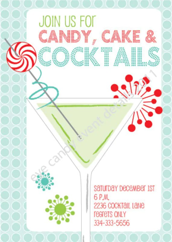 Cocktail INVITE - Birthday - Holiday Party Invite - DIY Printable - invitation for cocktail party