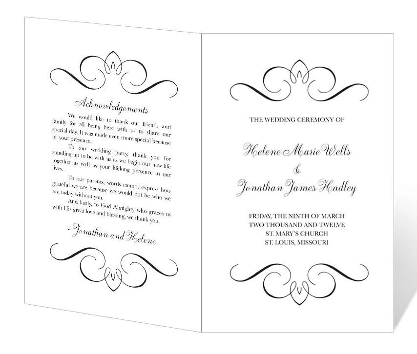wedding agenda templates - Ivedipreceptiv