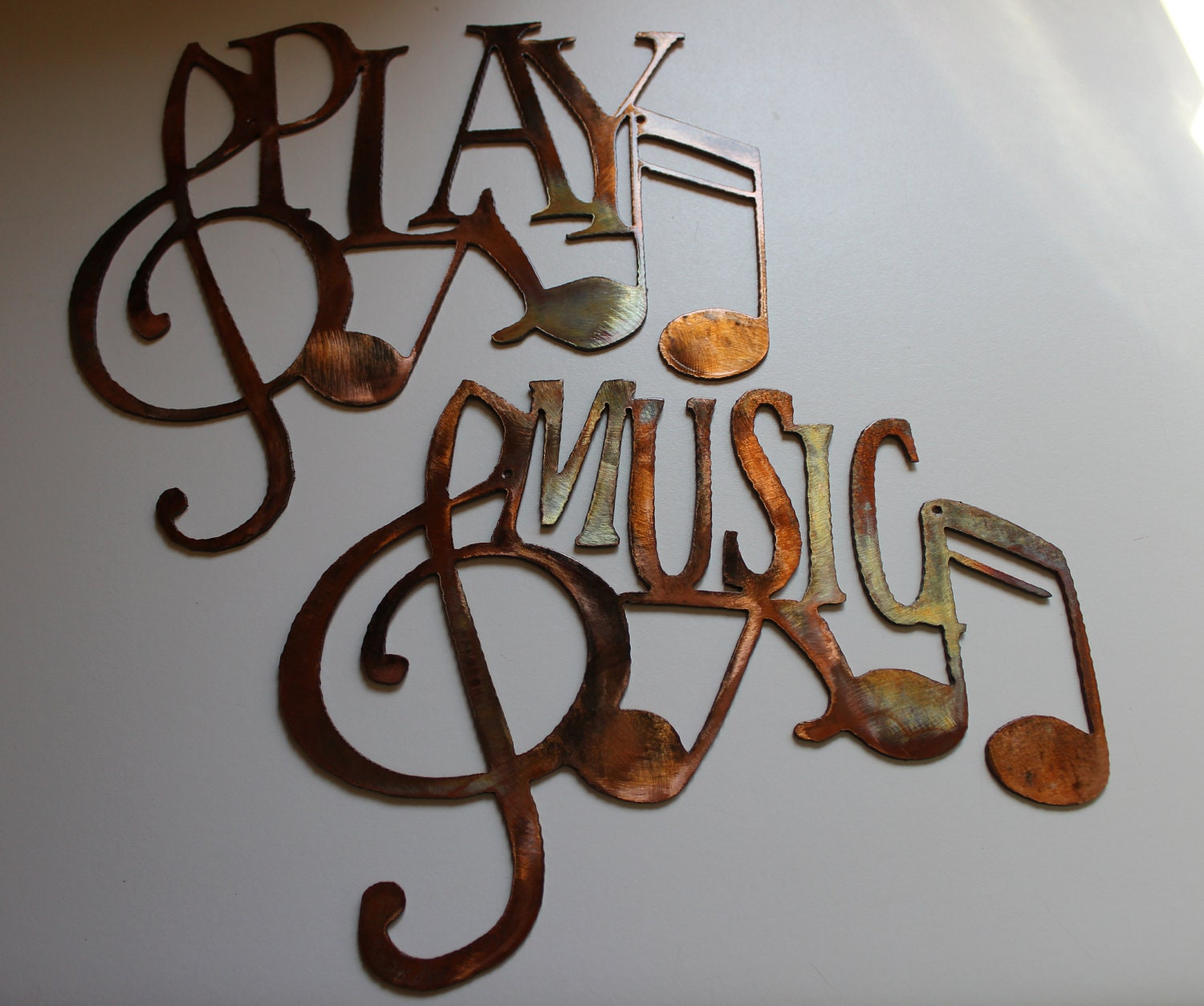 Metal Music Wall Art Play Music Metal Wall Art Decorative By Heavensgatemetalwork
