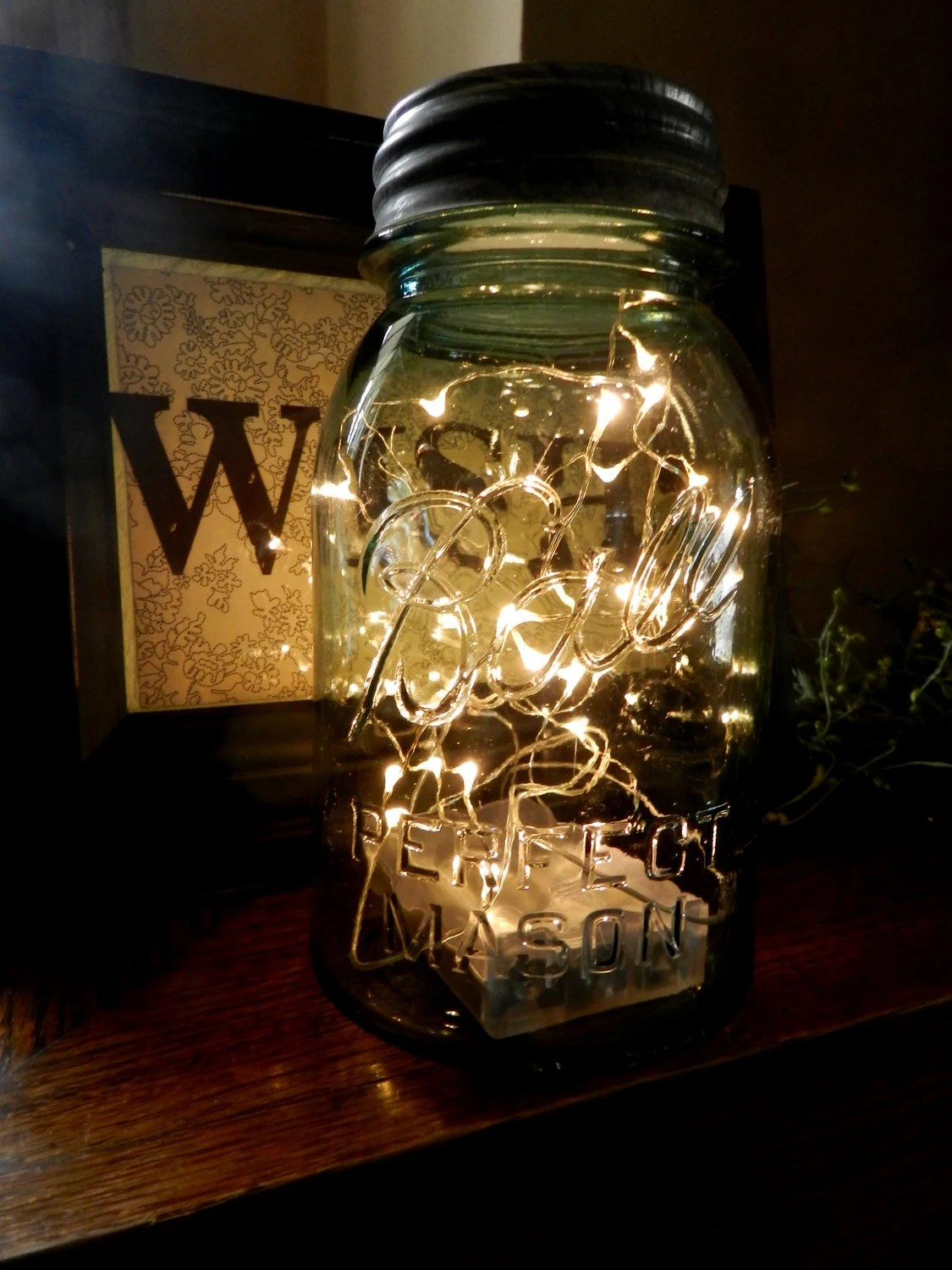 Fall String Lights Wallpaper Weddings Fireflies In A Mason Jar Led Battery Operated Lighted Vintage