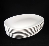 8 Eastern Airlines White Oval Dinner Plates EAL Airline 414