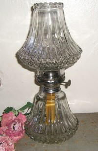 RESERVED FOR IRIS / Vintage Oil Lamp Clear Glass Gorgeous