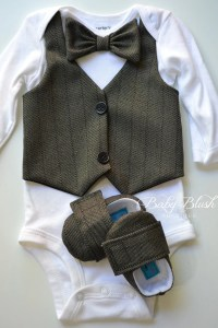 Black Vest Bow tie Baby Boy Outfit Photo Prop Matching Shoes