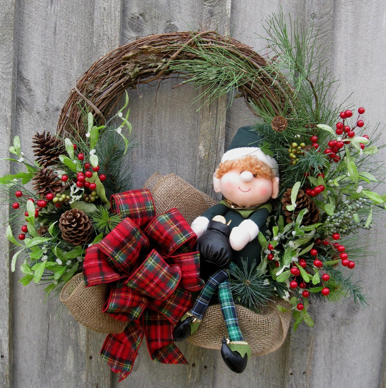 Fall Tree And Black Fence Wallpaper Christmas Wreath Holiday Wreath Woodland D 233 Cor Irish