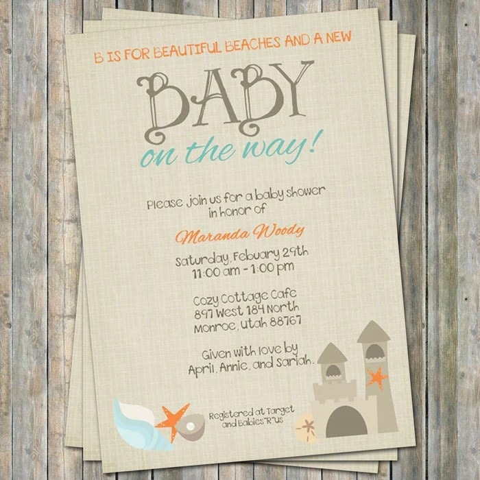 Ready to Pop Banner Printable DIY Coral Mint Instant by chitrap - diaper invitation