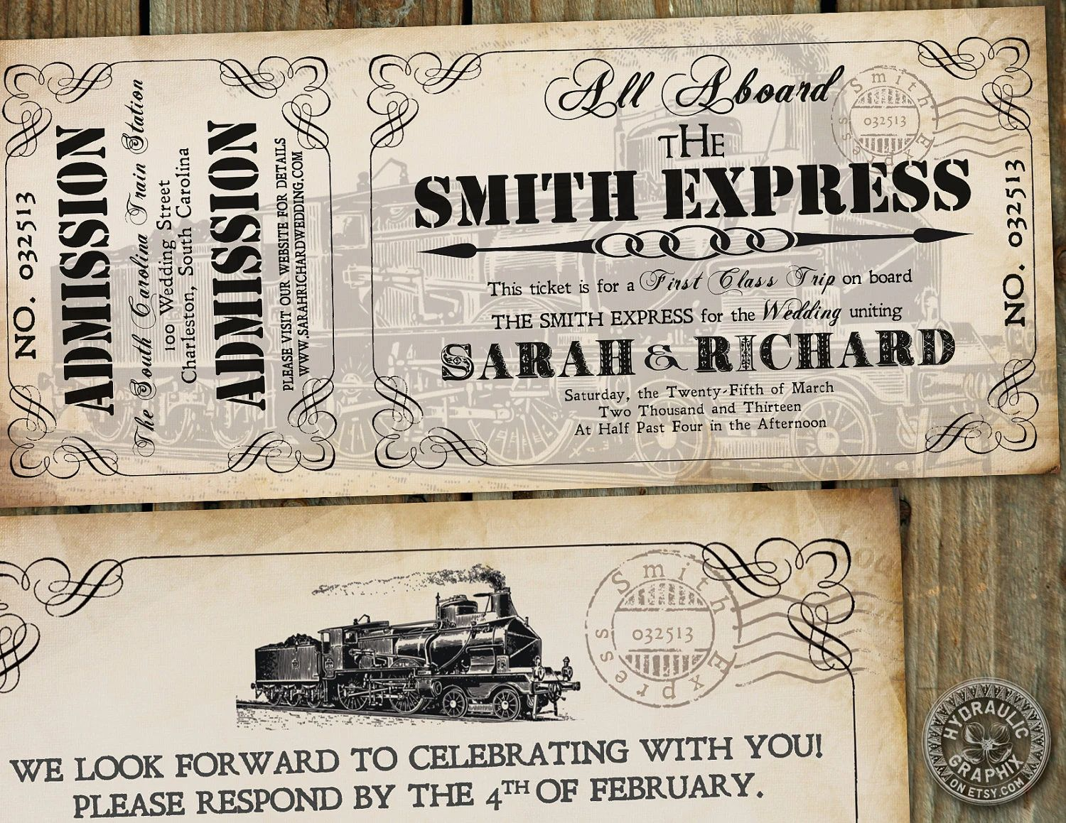 make your own ticket invitations