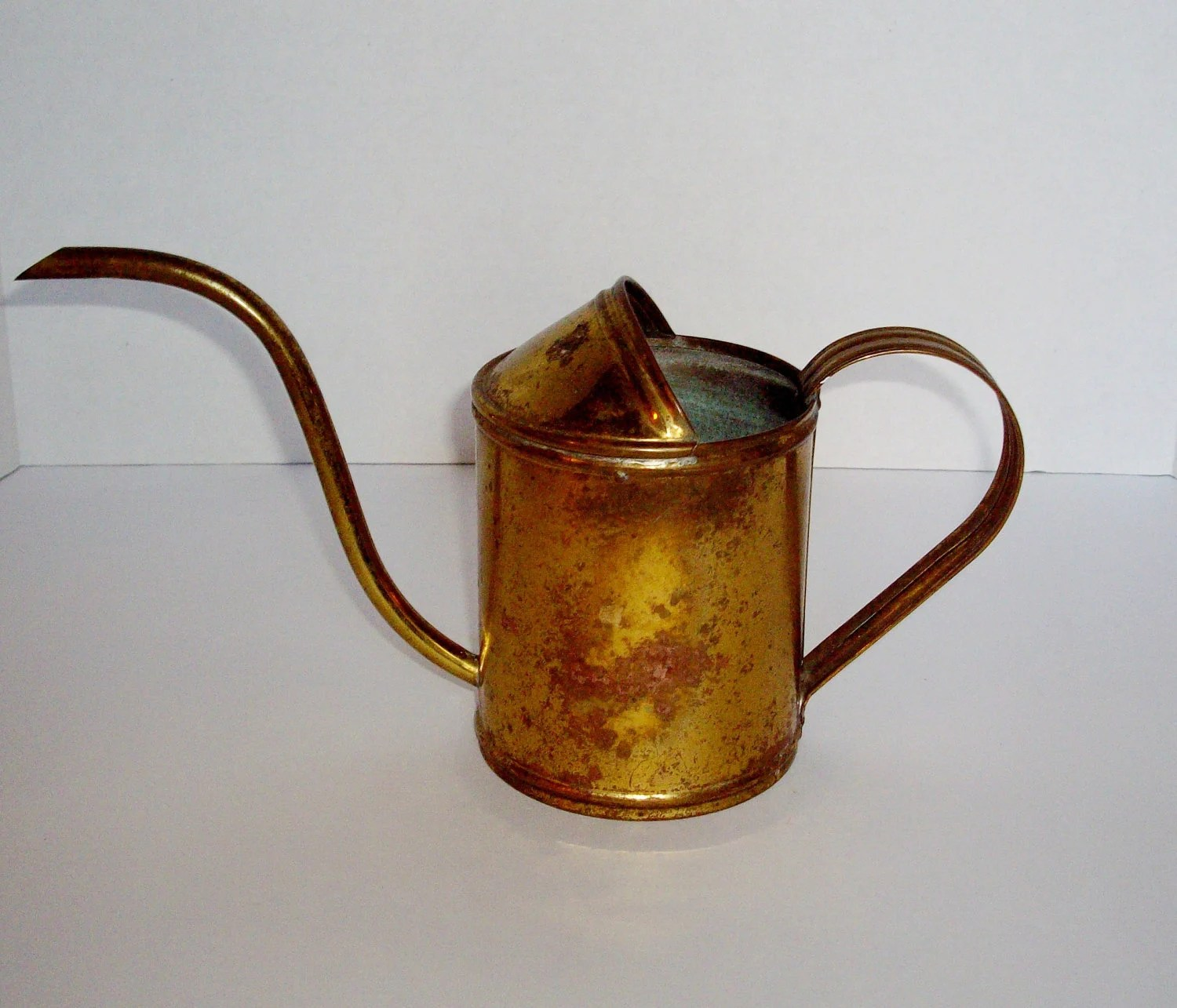 Watering Cans With Long Spouts Vintage Brass Watering Can Small Long Pour Spout By