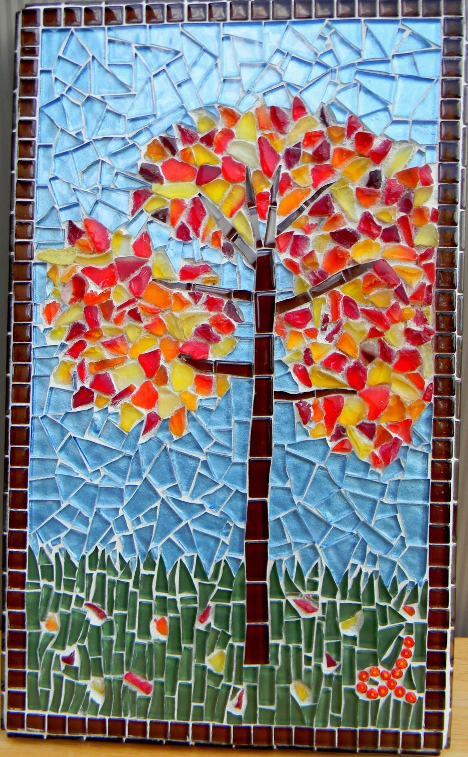 Bulk Jewelry To Sell Mosaic Art Autumn Tree
