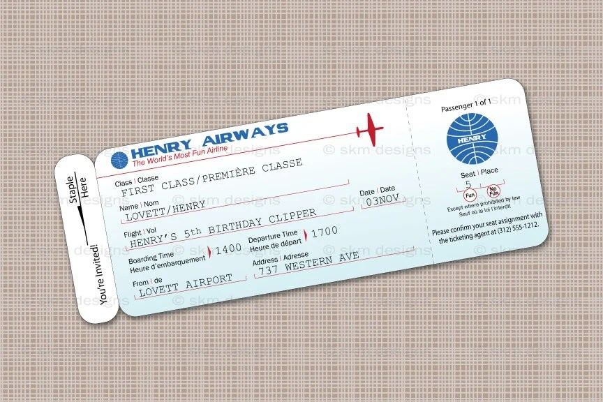 printable airline ticket invitation template pro-thai - plane ticket invitation template