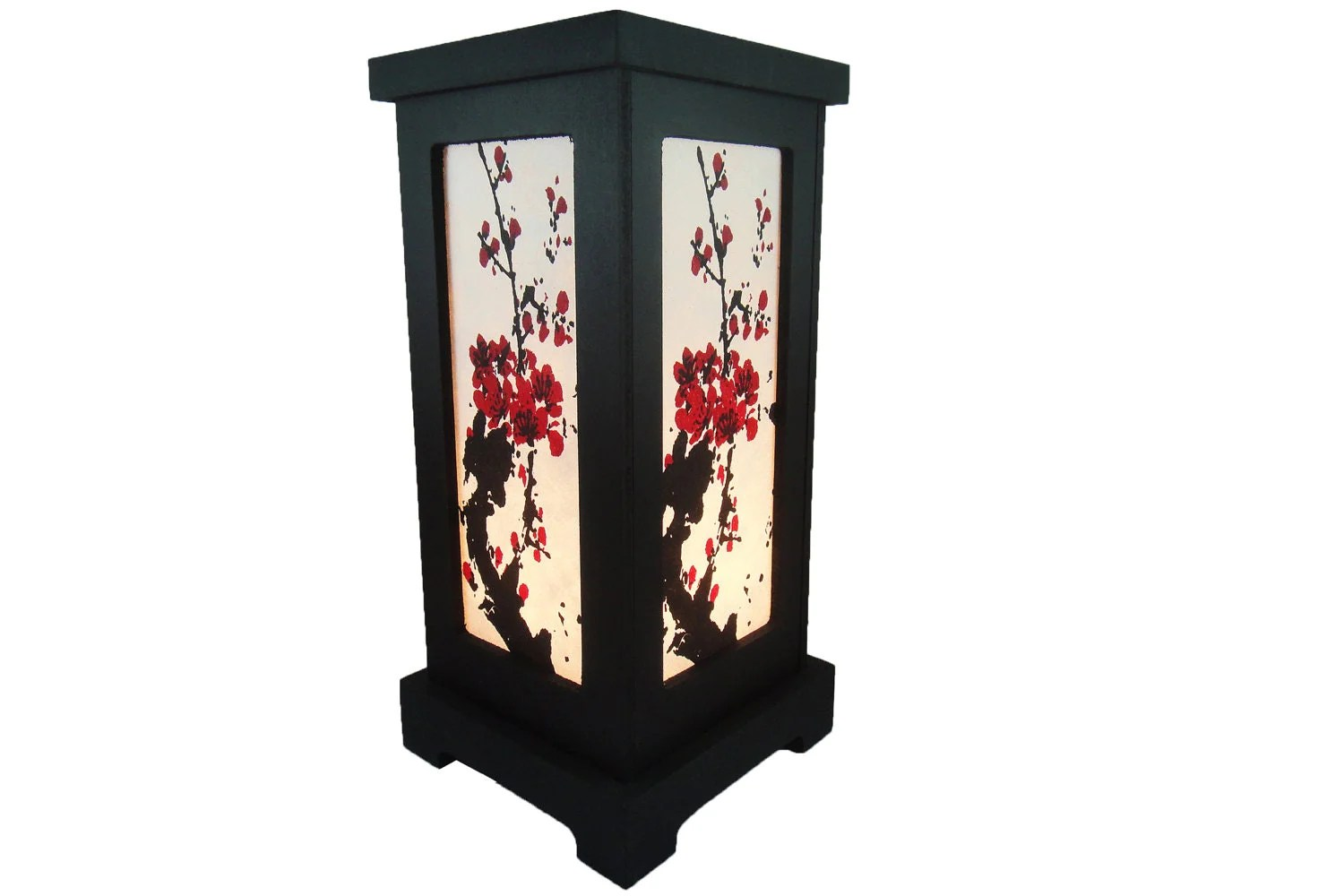 Cherry Blossom Table Lamps Asian Oriental Japanese Sakura Tree Branch Cherry By