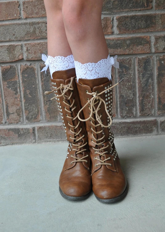 Lace Boot Cuffs Faux Lace Boot Socks Faux Lace Leg Warmers