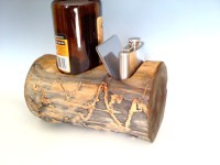 Whiskey Bottle Holder and flask gift set