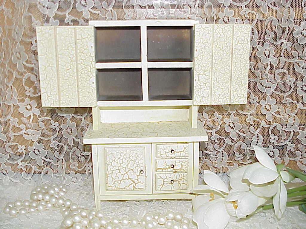 Crackle Paint Kitchen Cabinets Large Vintage Wooden Crackle Paint Doll House By