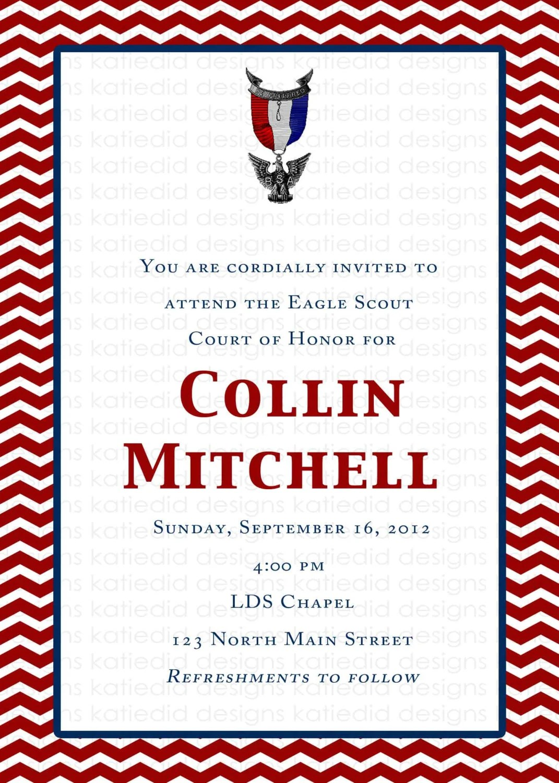 Eagle Scout Court Of Honor Invitations Graduation Lds
