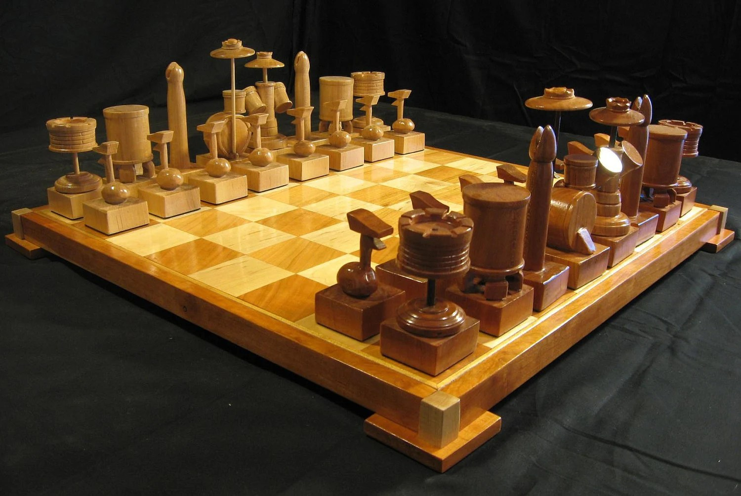 Personalized Chess Set Gift Chess Set Custom Cherry Drum Chess Set Handcarved On Etsy