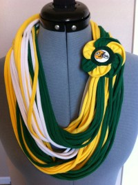NFL Green Bay Packers scarf. String scarf. T-shirt scarf.
