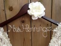 Wedding Dress Hanger Bride Hanger Bridal Hanger By