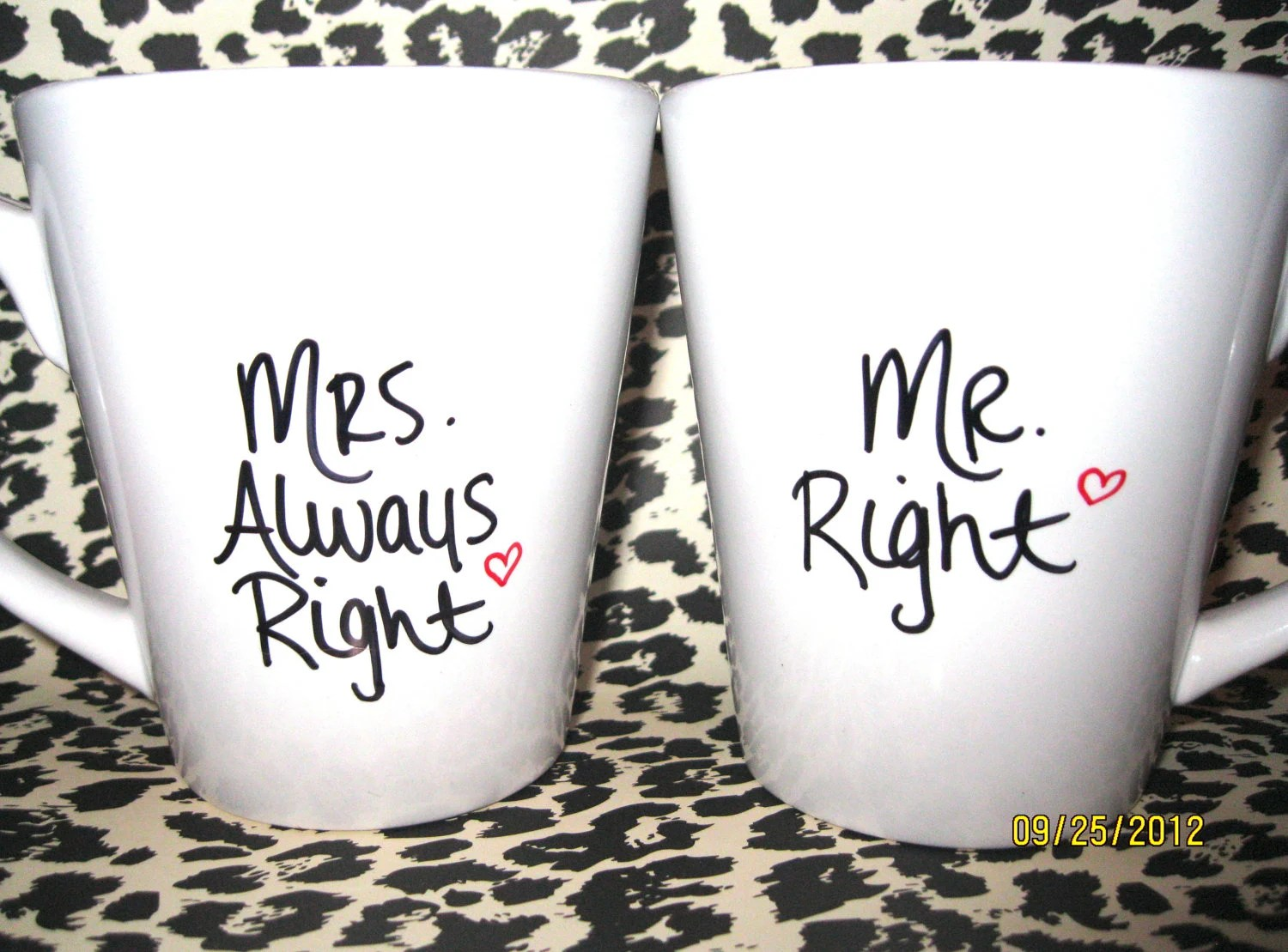 Mr Right Mrs Always Right Bettwäsche Mr Right And Mrs Always Right Coffee Mugs Set Of 2 Hand