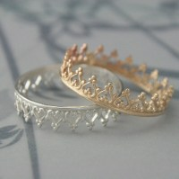 Queen of Hearts Band Crown Ring in SOLID 14K Yellow by ...