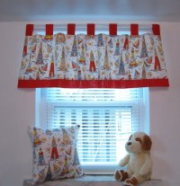 Items similar to Kids Window Treatments Curtain Valance ...