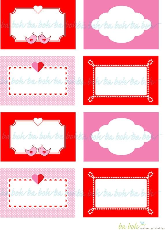 Items similar to LOVE BIRDS Valentine\u0027s Day Printable Blank Labels