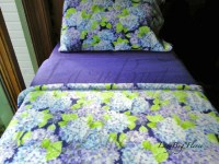 Girls Toddler Fleece Bedding Set 'Blue Hydrangea'