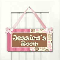Teenager door sign girls pink floral decor Bedroom by ...