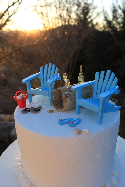 Beach Theme Wedding Cake Topper Basic Set Only Classic