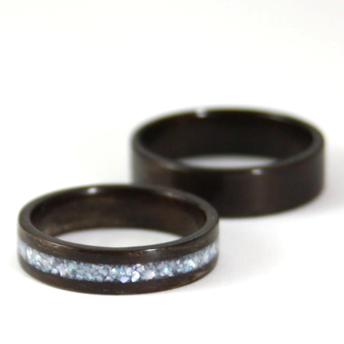 wooden wedding ring set rosewood wood wooden wedding band zoom