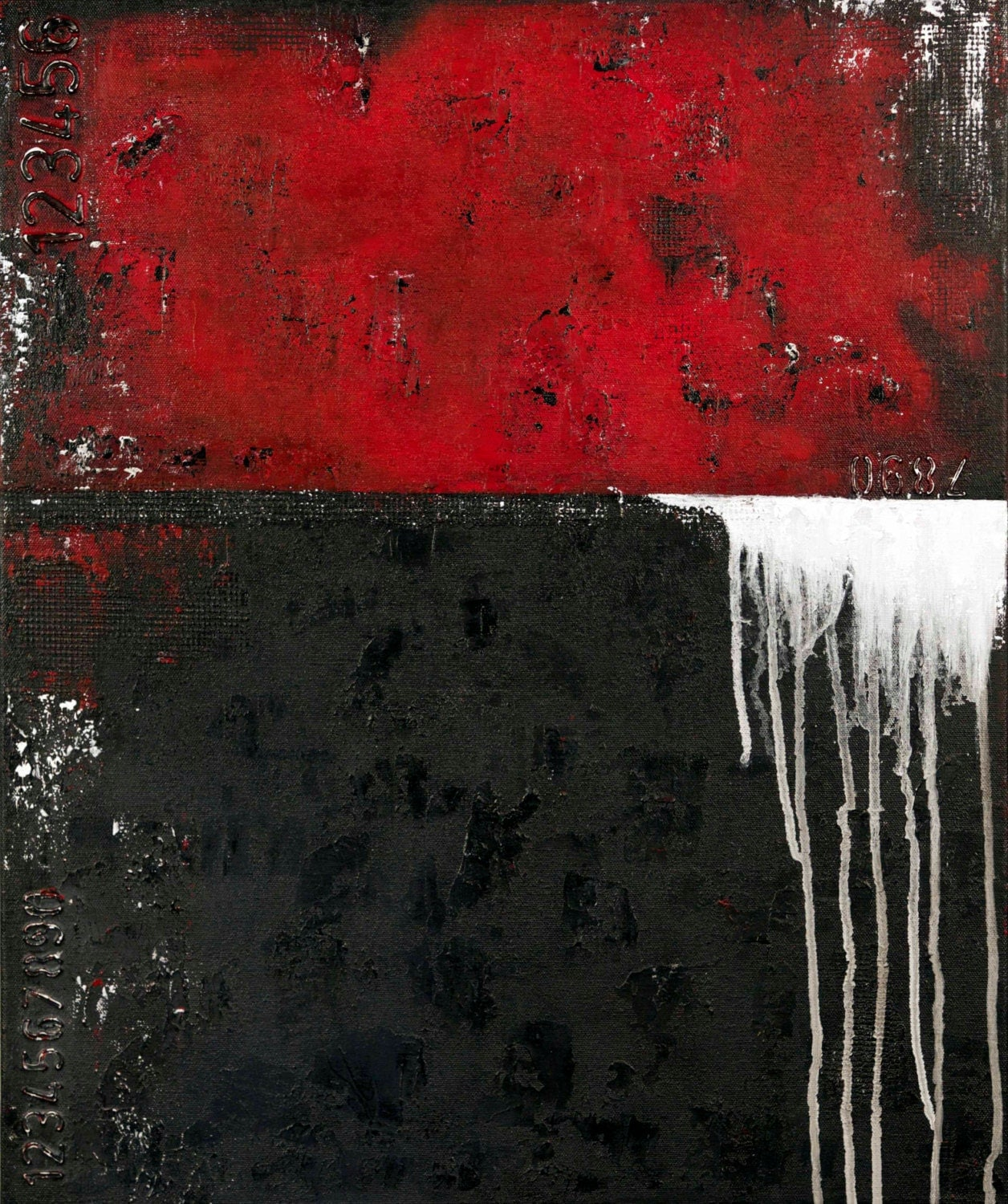 Black White And Gray Paintings Red Black White Gray Abstract Painting Abstract Art Abstract