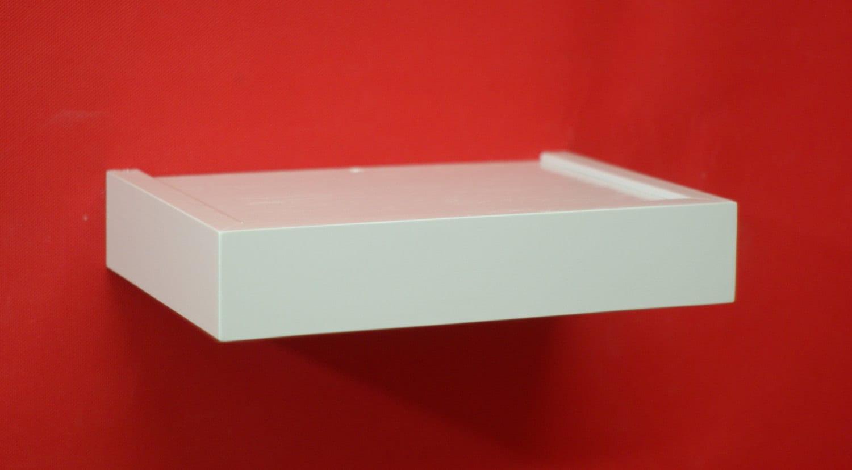 12 X 8 White Floating Shelf Wall Shelf By Joescustomwoodworks