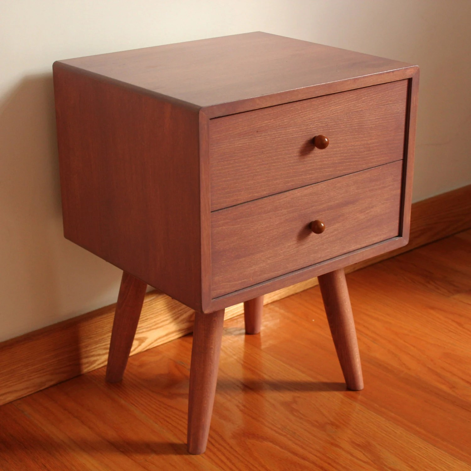 Danish Bedside Table Scandinavian Mid Century Handmade Bedside By