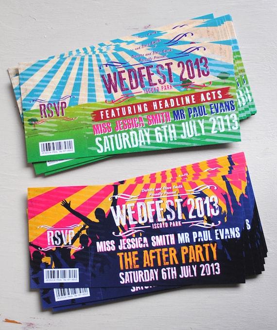 Concert Ticket Wedding Invitation samples - ticket invitation