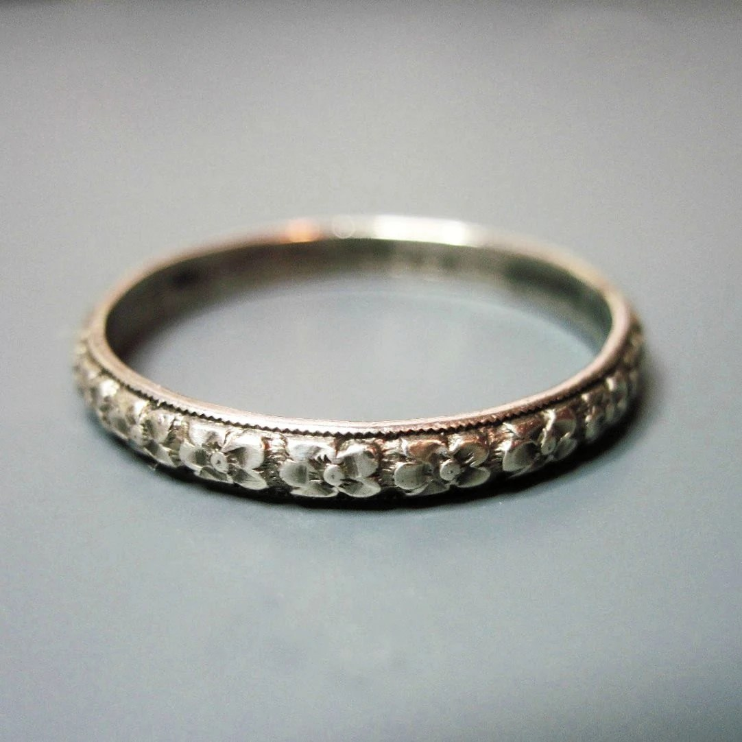 mens vintage art deco wedding band ring antique mens wedding bands zoom
