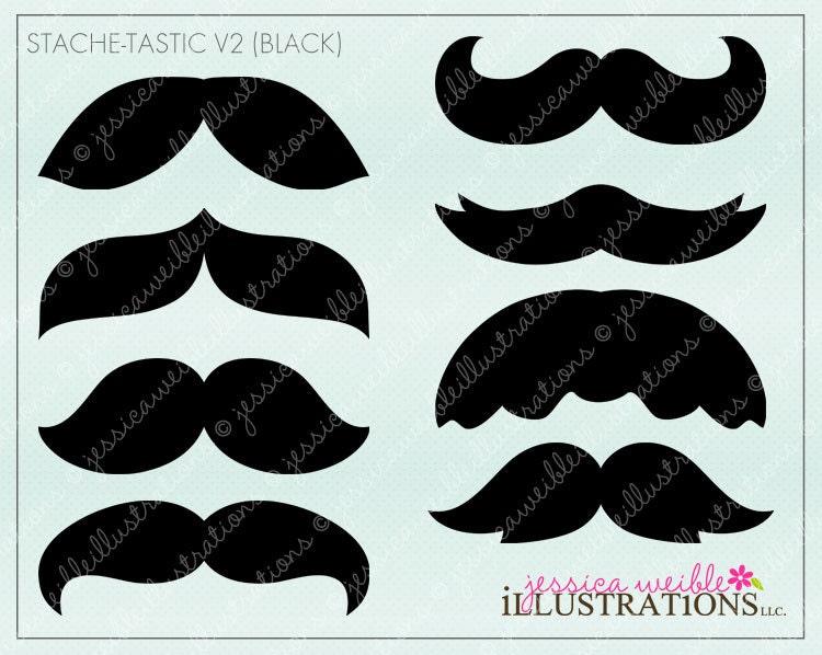 mustache clip art printables - Ecosia