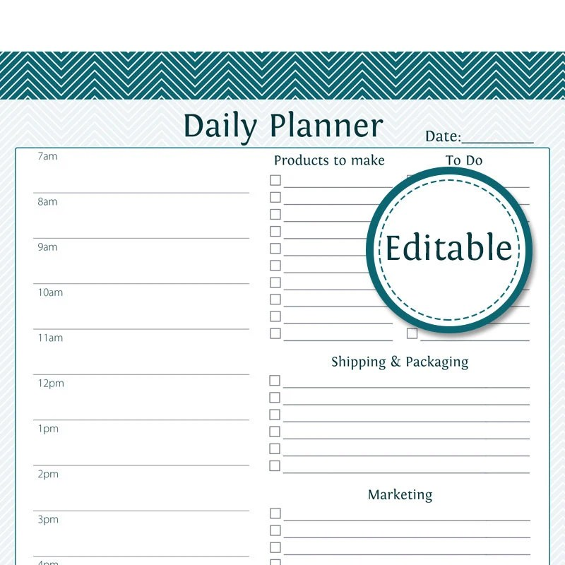 Business Plan Template Free Download Bplans Daily Business Planner Fillable Business Planner