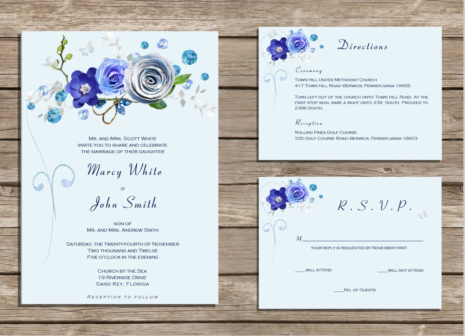 wedding invitation template royal blue royal wedding invitation Royal Blue Wedding Invitation Templates Inspiring
