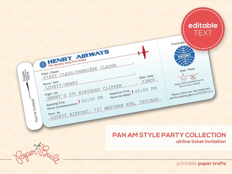 fake plane ticket template – Fake Ticket Maker