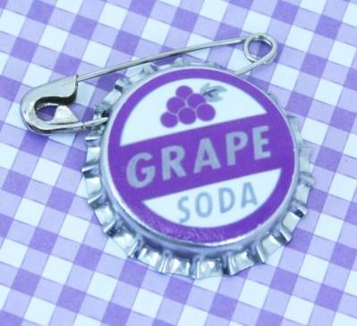 Disney Pixar's UP Grape Soda Bottlecap Badge Pin - Dark Purple
