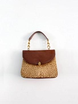 1960s animal print handbag, leather clutch