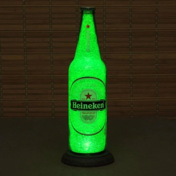 Heineken Lamp Big 24oz Heineken Beer Bottle Lamp/bar Light / Video