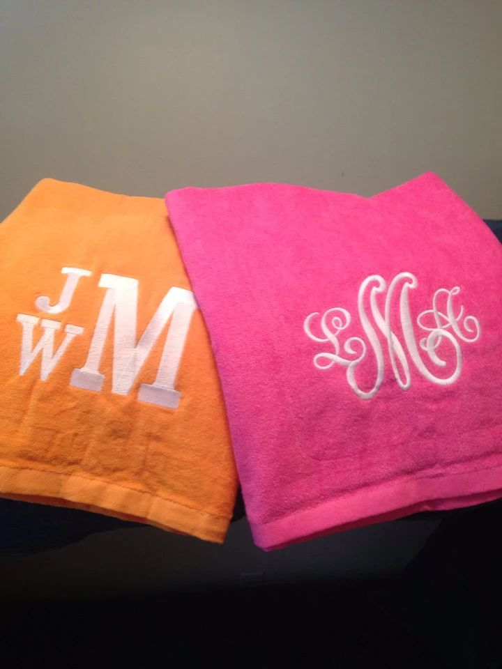 his and hers monogrammed towels