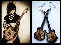 Black Veil Brides Jinxx guitar earrings by nikajon on Etsy