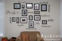 Family Wall Decal Set of 12 Family Words Family Room Wall