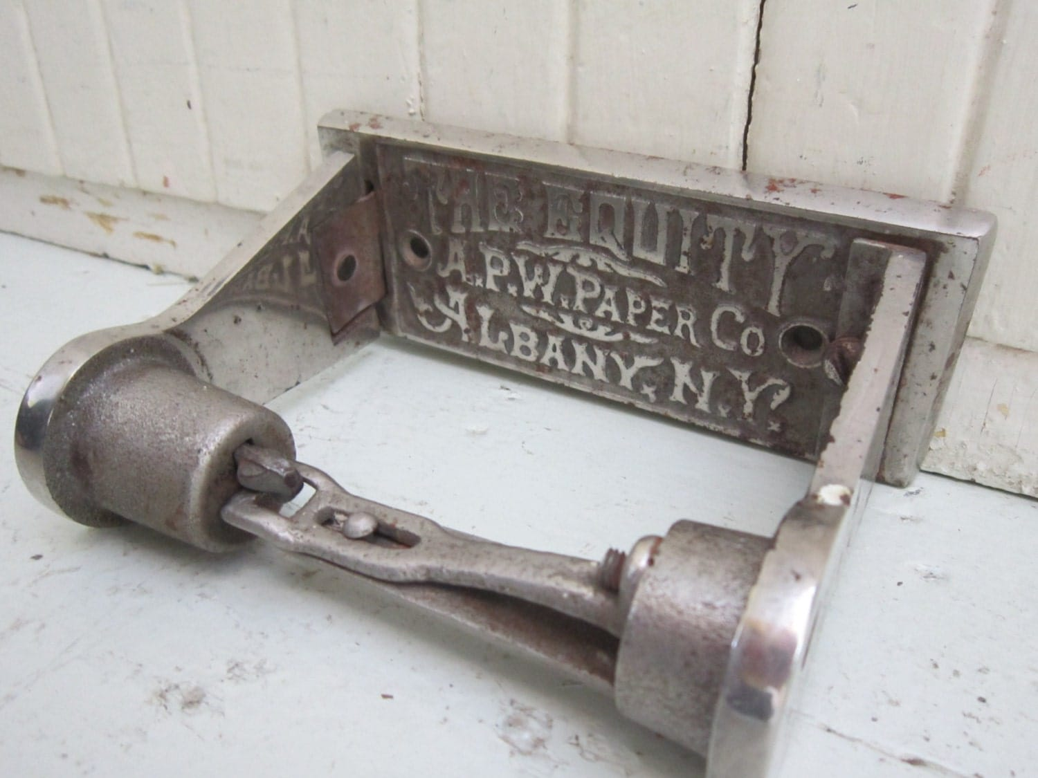 Antique Toilet Paper Dispenser 1893 Antique Toilet Paper Roll Holder The Equity A P W