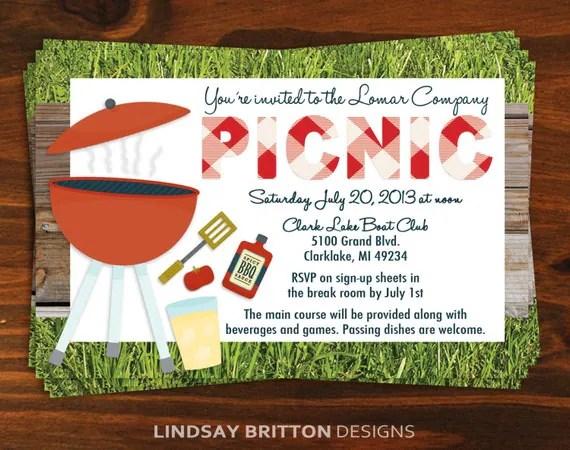 company picnic invitations templates free