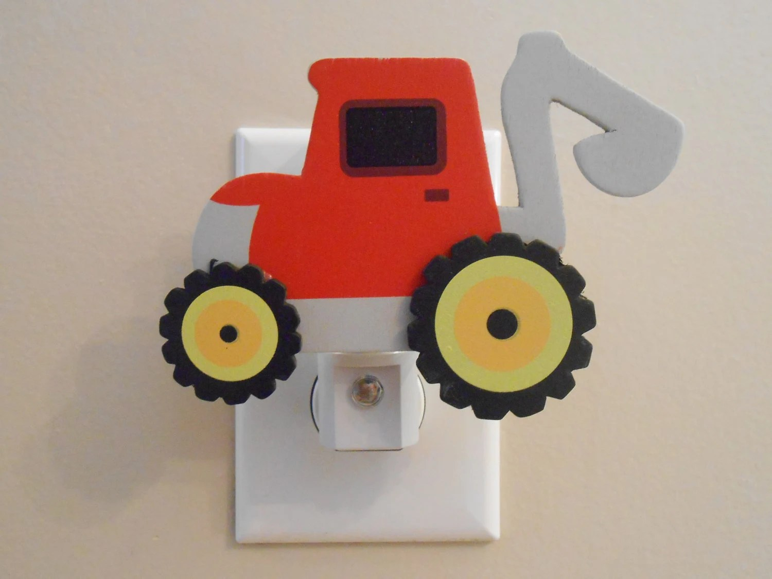 Red Night Light For Nursery Tractor Night Light Boy Decor Boy Nursery It 39s By