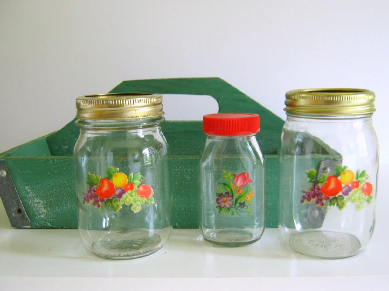 Vintage Pantry Storage Jars Retro Kitchen By