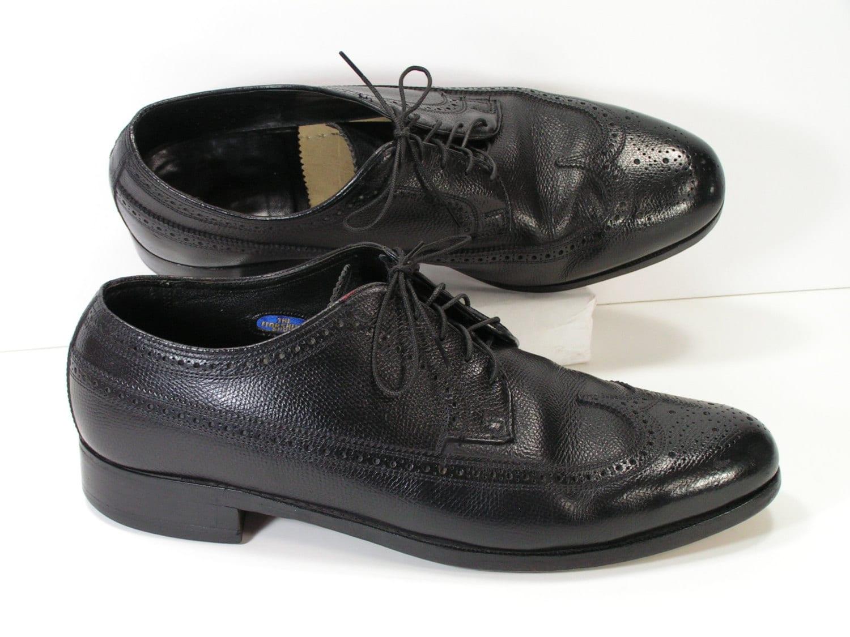 Florsheim Wingtip Dress Shoes Mens 105 3e Wide Black Oxford